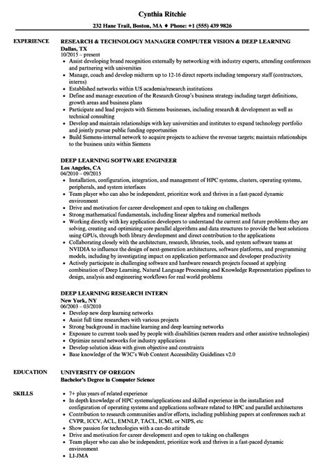 Deep Learning Resume Samples | Velvet Jobs