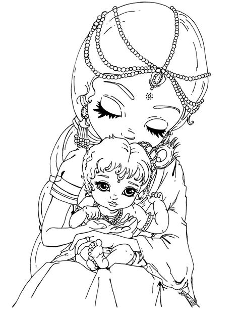 baby krishna coloring pages getcoloringpagescom