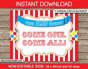 party favor labels printable carnival party backdrop sign circus party