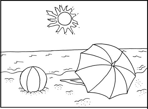 printable coloring pages  kids   beach coloring home