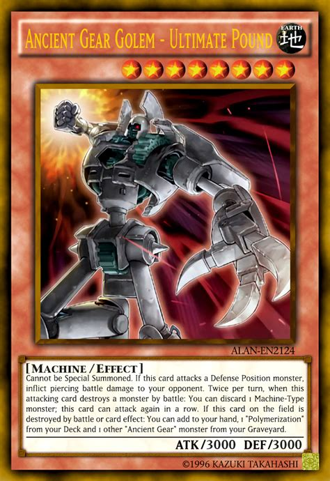 Yugioh Ancient Gear Deck 2017 by Ancient Gear Golem Ultimate Pound By Alanmac95 On Deviantart
