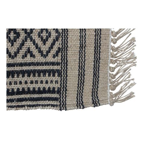 tapis tipi en jute noir smallable home design adulte