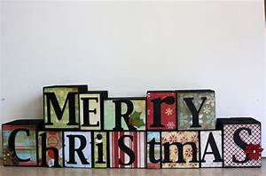 merry christmas block letters decorating ideas With merry christmas wooden letters