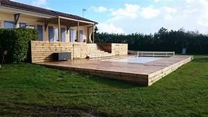 Tour De Piscine Bois : terrasse bois piscine sapin diverses id es ~ Premium-room.com Idées de Décoration