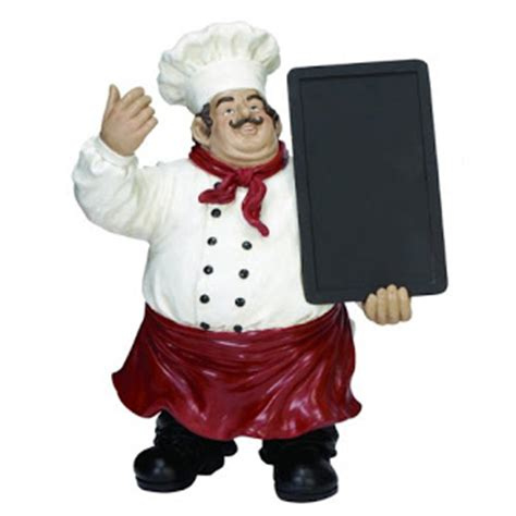 chef figurines kitchen decor total fab chef statues a bit of bistro themed