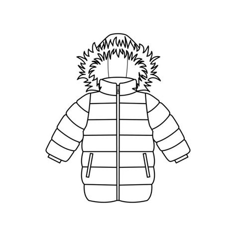 winter coat clipart black and white royalty free padded jacket clip vector images