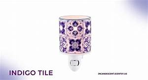 NEW! INDIGO TILE NIGHTLIGHT MINI SCENTSY WARMER Scentsy