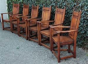 Antike Stühle Gebraucht : set von 6 antiken sessel eiche england 1920 20 jahrhundert ~ Indierocktalk.com Haus und Dekorationen