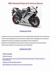 2007 Kawasaki Ninja Zx 6r Service Manual By