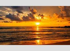 Golden Sunset Over The Indian Ocean In Sri Lanka HD