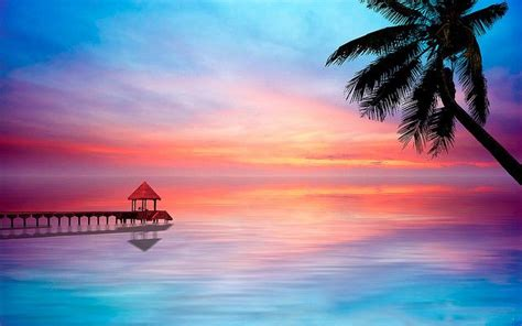 beautiful sunrisesunset  caribbean clear waters