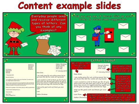 Writing A Letter To Father Christmas (powerpoint And Worksheets) By Onlineteachingresources
