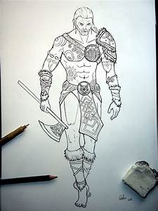 How to draw celt warrior