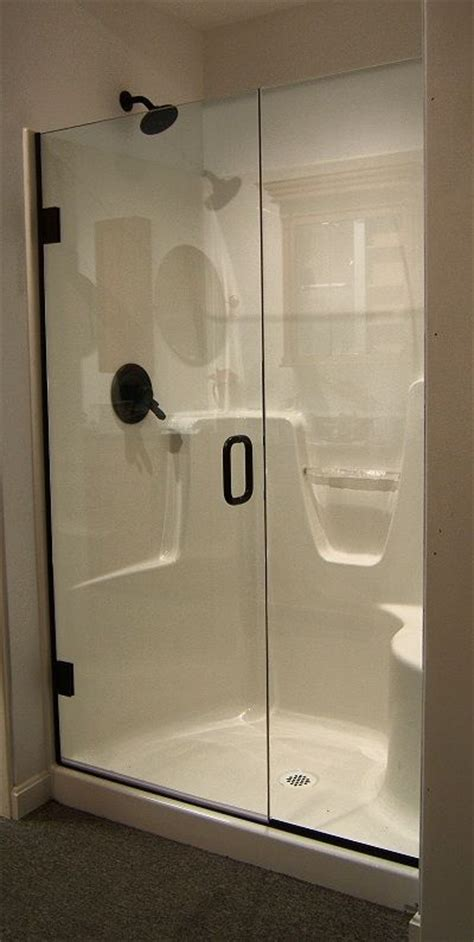 fiberglass shower doors shower   semi frameless