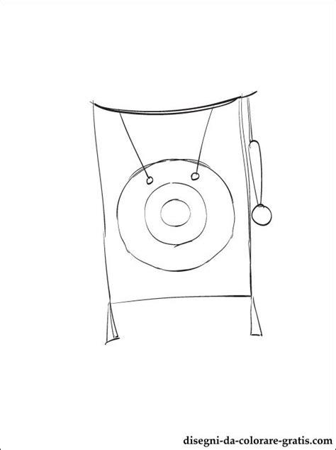 disegno  gong da colorare disegni da colorare gratis