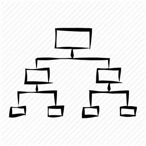 Company Structure  Hand Drawn  Hierarchy  Office  Scheme Icon