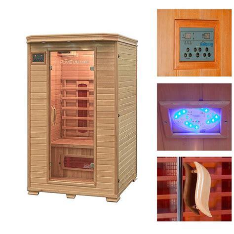Zwei Mann Sauna by Home Deluxe Infrarotkabine 187 Redsun M 171 120 105 190 Cm 40
