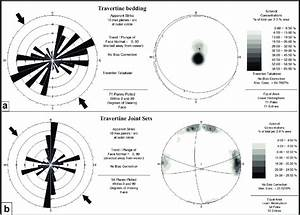 Rose Diagram And Stereographic Projection Of Bedding  A  And Joint Sets