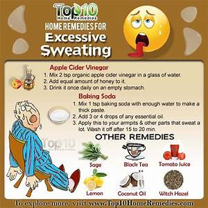 Home Remedies For Excessive Sweating Top 10 Home Remedies