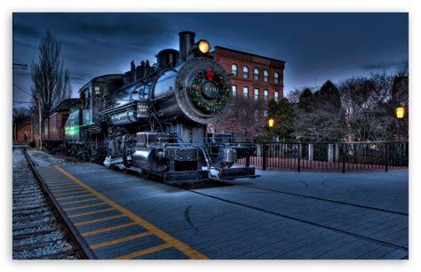 Christmas City Locomotive Railway 4k Hd Desktop Wallpaper