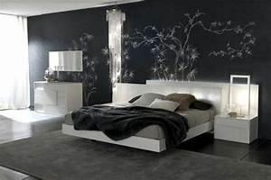 la deco chambre a coucher adulte le noir s39impose With chambre grise et noire