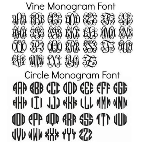 circle monogram fonts  monogrammed circle monogram font  monogram fonts