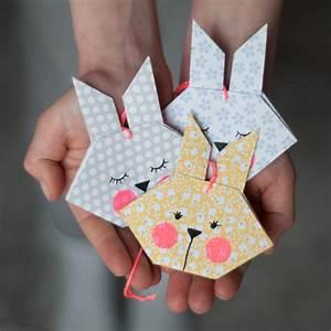 Origami Osterhase Faltanleitung Einfach : diy origami osterhasen als anh nger oder grusskarte ~ Watch28wear.com Haus und Dekorationen