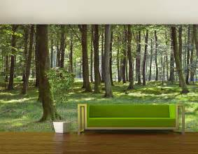 woodland forest self adhesive wall mural contemporary wall stickers