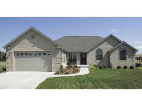 One Story Brick Ranch House Plans
