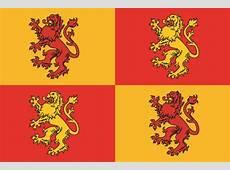 4 Heraldic Lions Large Standard Flag