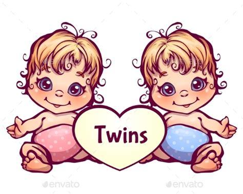 Cartoon Baby Twins By Cattleyaart