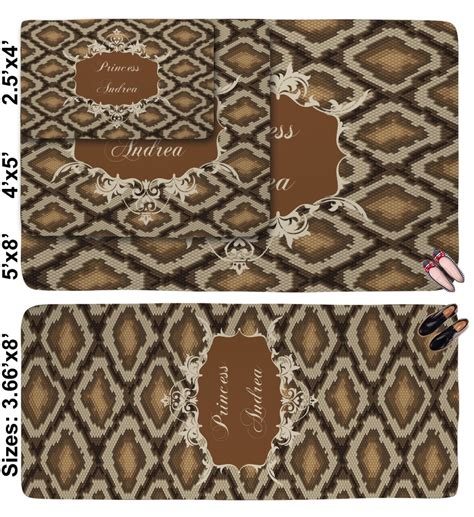 Snake Skin Rug by Snake Skin Area Rug Personalized Youcustomizeit