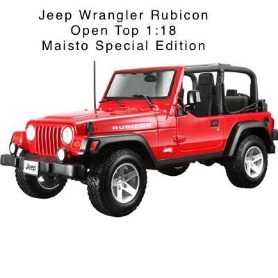 jeep wrangler open top jeep wrangler rubicon open top toy car die cast and