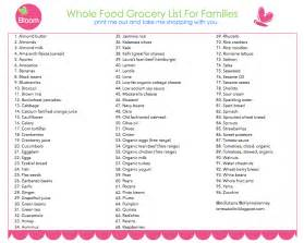 Whole Foods Grocery List Printable