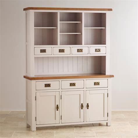 kemble painted large dresser  rustic solid oak