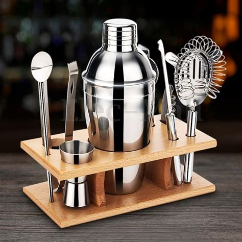 Bar Set by Stainless Steel Shaker Mixer Drink Bartender