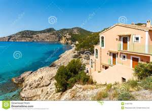 luxury mediterranean home plans apartment house view bay mountains royalty free