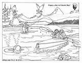 Coloring Sheets Sheet National Glacier Bay Kayakers Nps Seals August sketch template