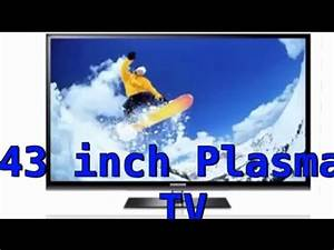 Samsung 43 Inch Plasma Tv Unboxing    Review