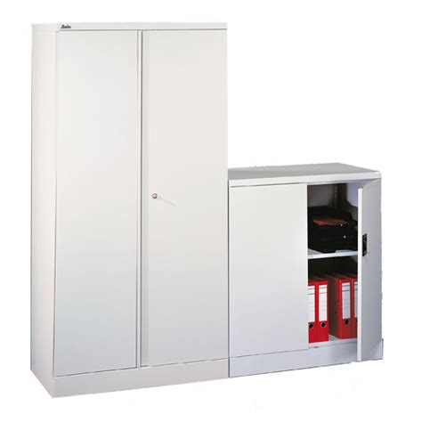White Storage Cupboard With Doors by White Office Cupboard 1020mm Assembled