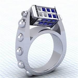 this doctor who spinning tardis ring is a thing of With tardis wedding ring
