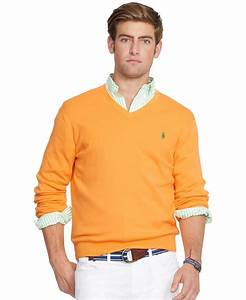 Polo V : polo ralph lauren pima v neck sweater in orange for men hot coral lyst ~ Gottalentnigeria.com Avis de Voitures