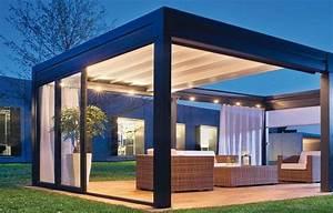 pergola ouverte toit store tendu pergola pinterest With rideau pour pergola exterieur 9 terrasse couverte abri de terrasse pergola tonnelle