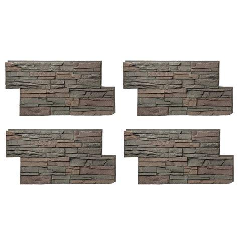stacked panels urestone stacked stone 35 desert tan 24 in x 48 in stone veneer panel 4 pack dp2625 35