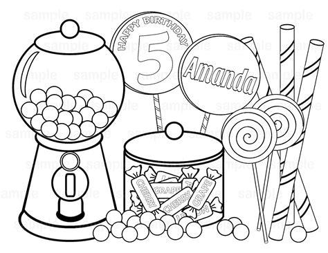 Drawn Lollipop Coloring Page