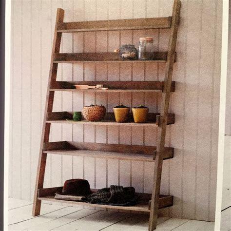 Rustic Ladder Bookcase by Rustic Oak Ladder Shelf Large Allissias Attic