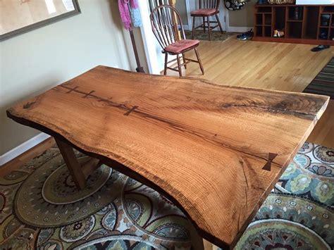 live edge oak table red oak live edge dining table and white oak live edge