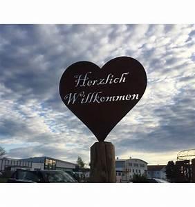 Herzlich Willkommen Bilder Zum Ausdrucken : edelrost herz herzlich willkommen zum stellen h he 18 cm ~ Eleganceandgraceweddings.com Haus und Dekorationen