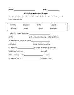 context clues worksheet writing part  intermediate