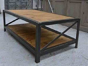 Meuble Bois Acier : meubles bois et acier meubles industriels meubles sur mesure ~ Melissatoandfro.com Idées de Décoration
